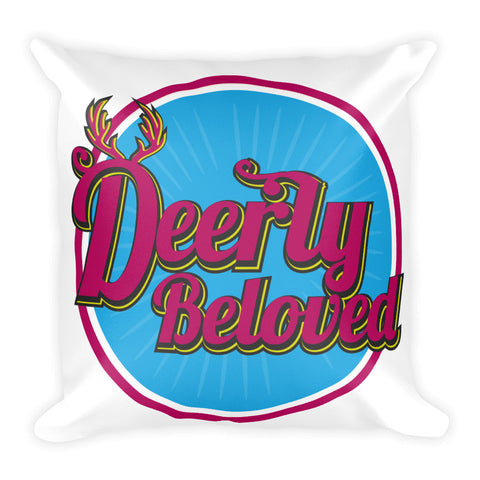Deerly Beloved Vintage Style Square Pillow