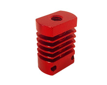 Creality CR-10 Hotend Threaded Heatsink Block Replacement, includes block and spare PTFE (teflon) tube.
