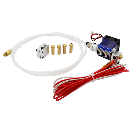 E3D V6 Clone Hotend PTFE with Volcano Heater Block and Volcano Brass Nozzle Pack 12V (all metal tube is optional)