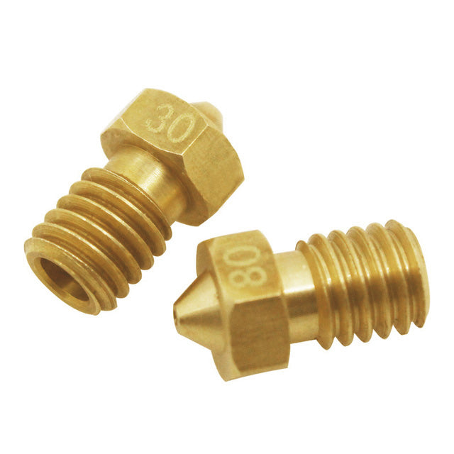 E3D V6 Style Brass Nozzle Various Bore Sizes 0.4-1.0 mm for Standard V6 block and 1.75 mm Filament