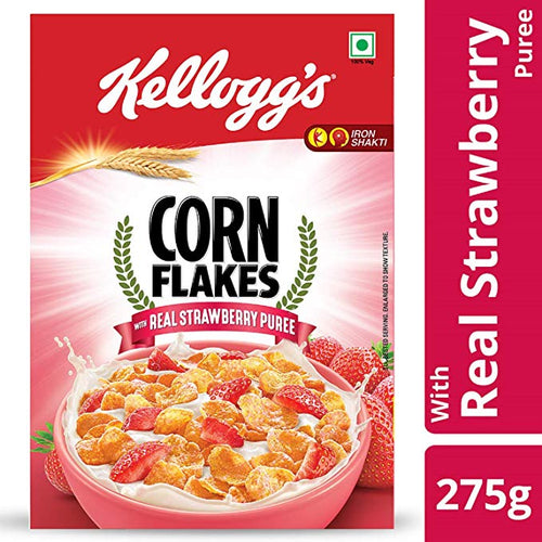 Kellogg's Corn Flakes, Real Strawberry - 275g