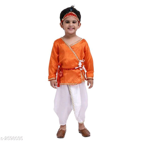 Attractive Boy's Polyester Kanhaiya Suits