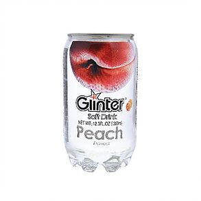 Glinter Soft Drink Peach Flavor - 360ml Can