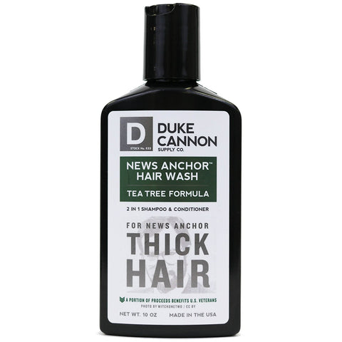 Duke Cannon News Anchor Hair Wash Tea Tree