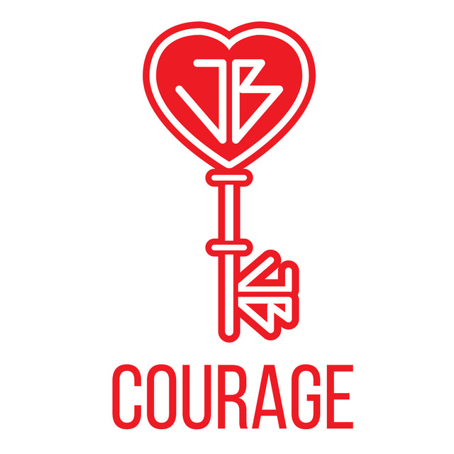 The Just Be Revolution Logo Key Courage
