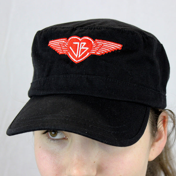 The Just Be Revolution Black Army Hat With Strength Wings Logo Embroidery