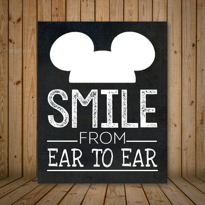 Mickey Mouse Inspired Smile from Ear to Ear