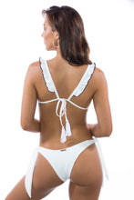 Sydney Ribbed Tie Bottoms White
