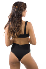 Sevilla Ribbed High Waisted Bottoms Black