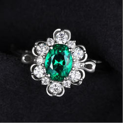 Emerald Solitaire Promise Ring - Bella Artisan Jewelry