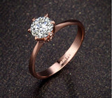 Forever Love Classic Engagement Ring - Bella Artisan Jewelry