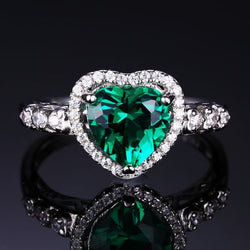 Heart Of Ocean Emerald Promise Ring - Bella Artisan Jewelry