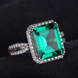 Square Emerald Ring - Bella Artisan Jewelry
