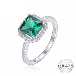 Square Cut Emerald Ring - Bella Artisan Jewelry