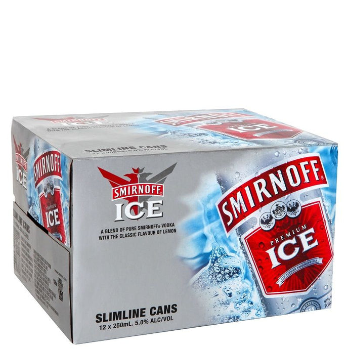 Smirnoff Double Black IceCan 250ml 12pk 5%
