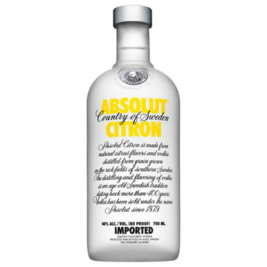 Absolut Citron 700ml Vodka