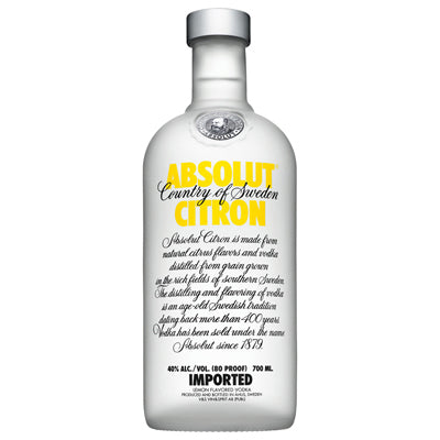 Absolut Citron flavor 700ml Vodka