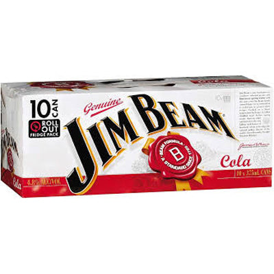 Jim Beam Bourbon Cola 330ml 10pk