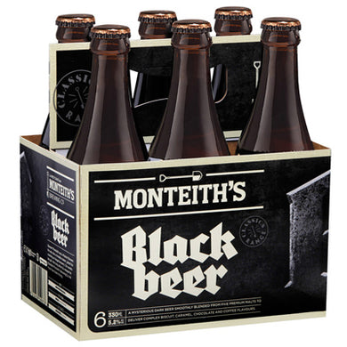 MONTEITH'S BLACK 6PK BOTTLES 330ML