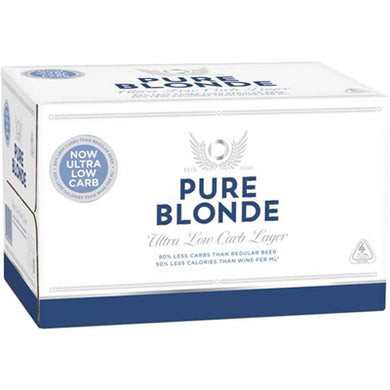 PURE BLONDE LOW CARBS LAGER 12PK BTLS 355ML