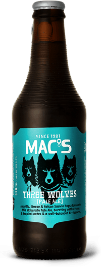 Macs Three Wolves Pale Ale 12 Pack Bottles 330ml