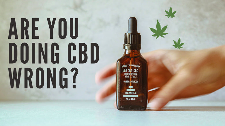 5 Signs You're Doing CBD Wrong In 2019