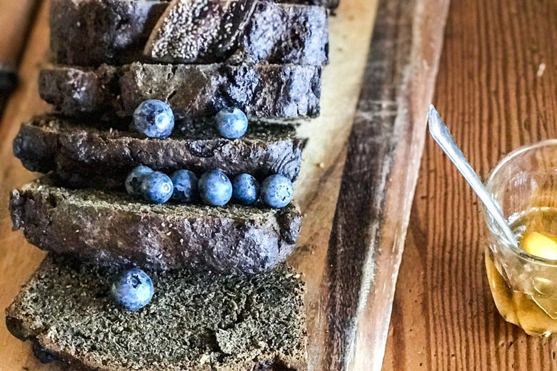 BANANA & BLUEBERRY HEMP LOAF