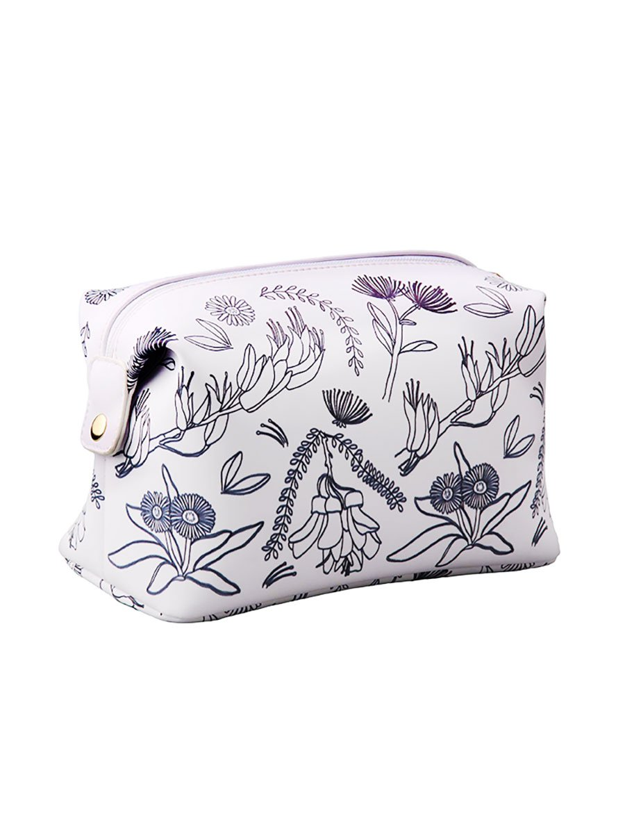 NZ Flowers Toilet Bag