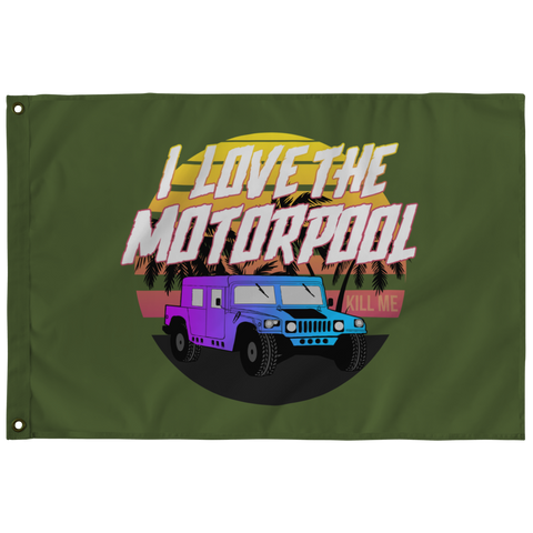 I Love The Motorpool Flag (Hidden Message)