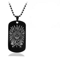 Skull Army Dog Tags
