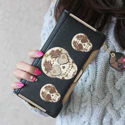 Sugar Skull Clutch Purse