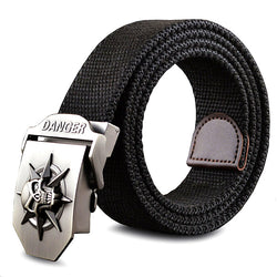 Skull Canvas Belt