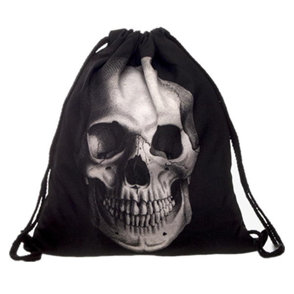 Skull Drawstring Backpack