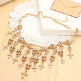 Gorgeous Fashion skull & Cross Necklace