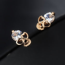 Vintage Stud Skull Earrings