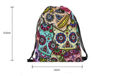Sugar Skull Drawstring Backpack