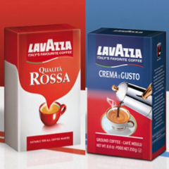 2+2 Pack of Lavazza 2 Qualità Rossa & 2 Crema Gusto