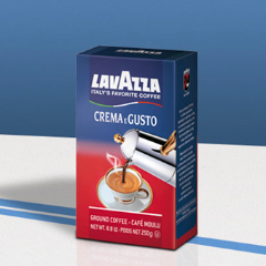 4 Pack of Lavazza Crema Gusto Ground Espresso Coffee