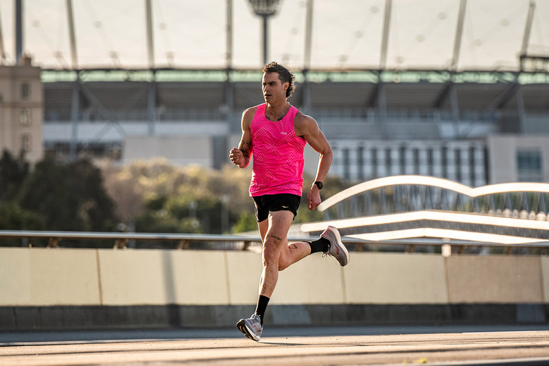 Spirit Male Run Singlet / Pink