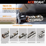 ACEBEAM TK17-Titanium 1500LMS 290M EDC Flashlight Limited Edition