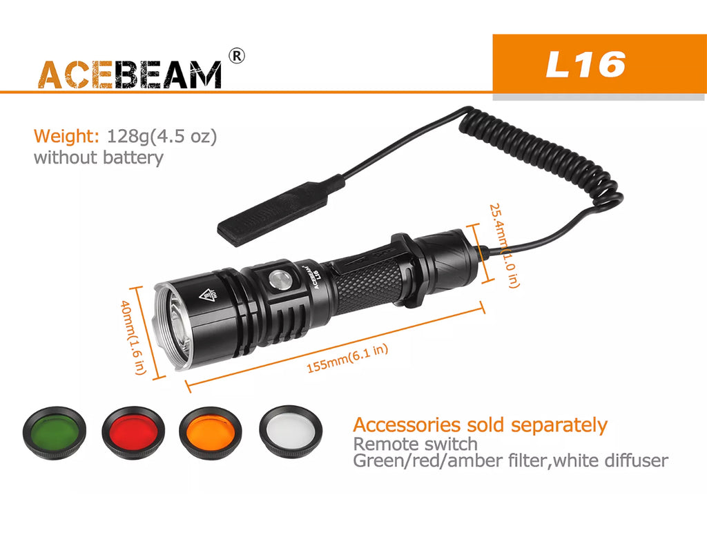 Acebeam L16 Remote Pressure Switch