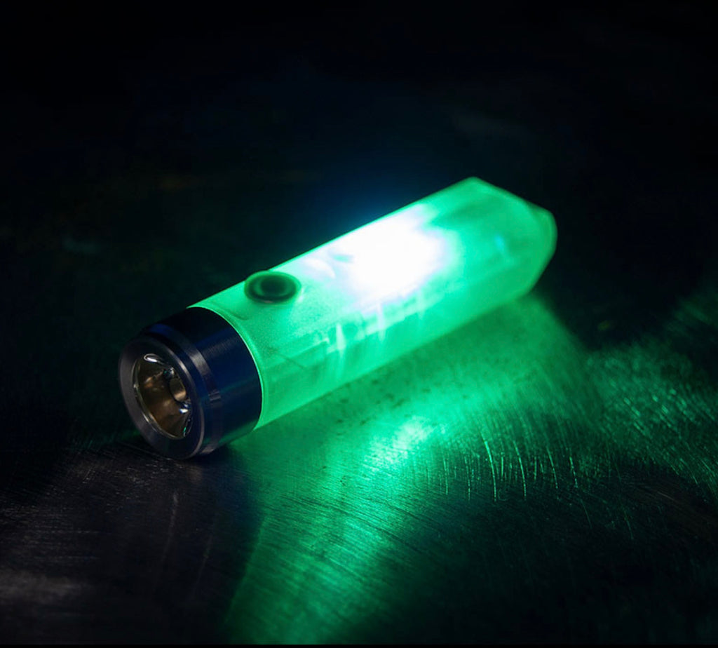 RovyVon Aurora A5x White/UV Green GITD Keychain Flashlight