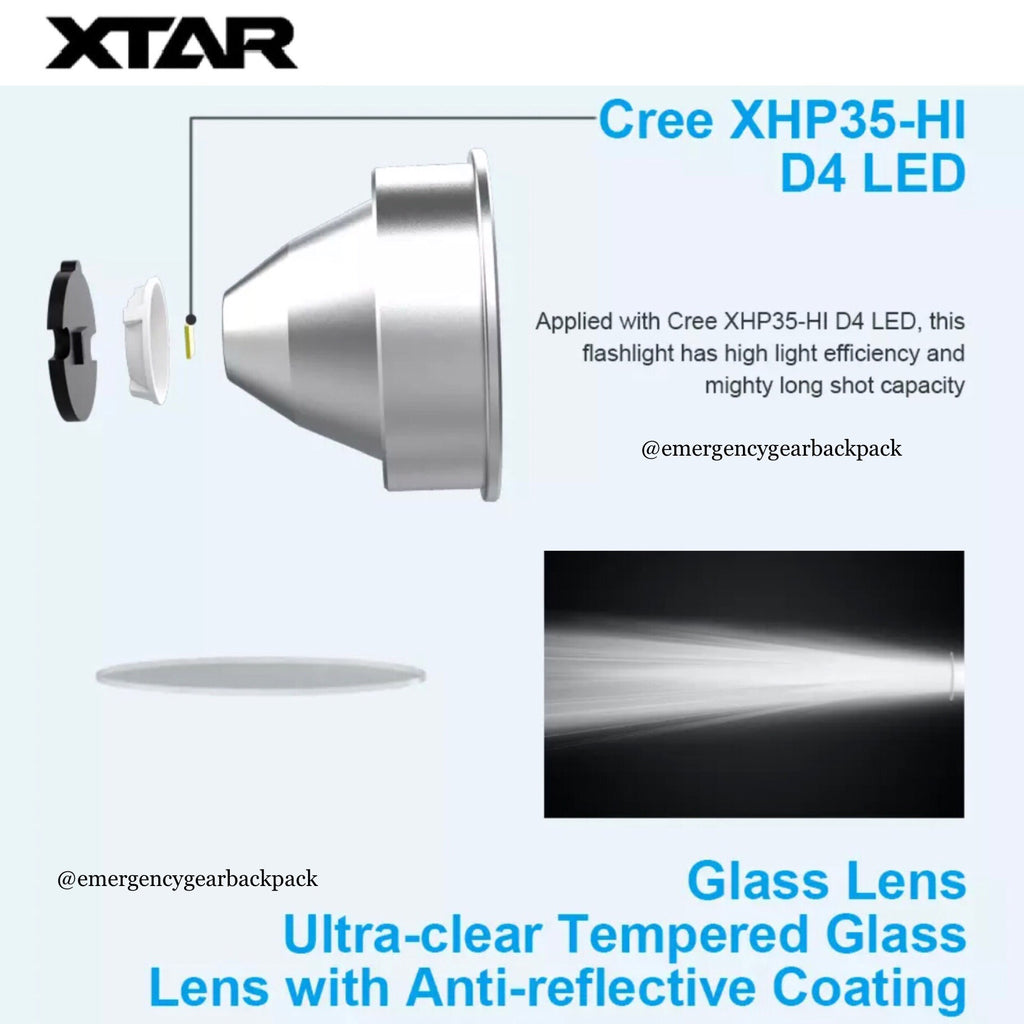 XTAR D26 1600 Diving Flashlight