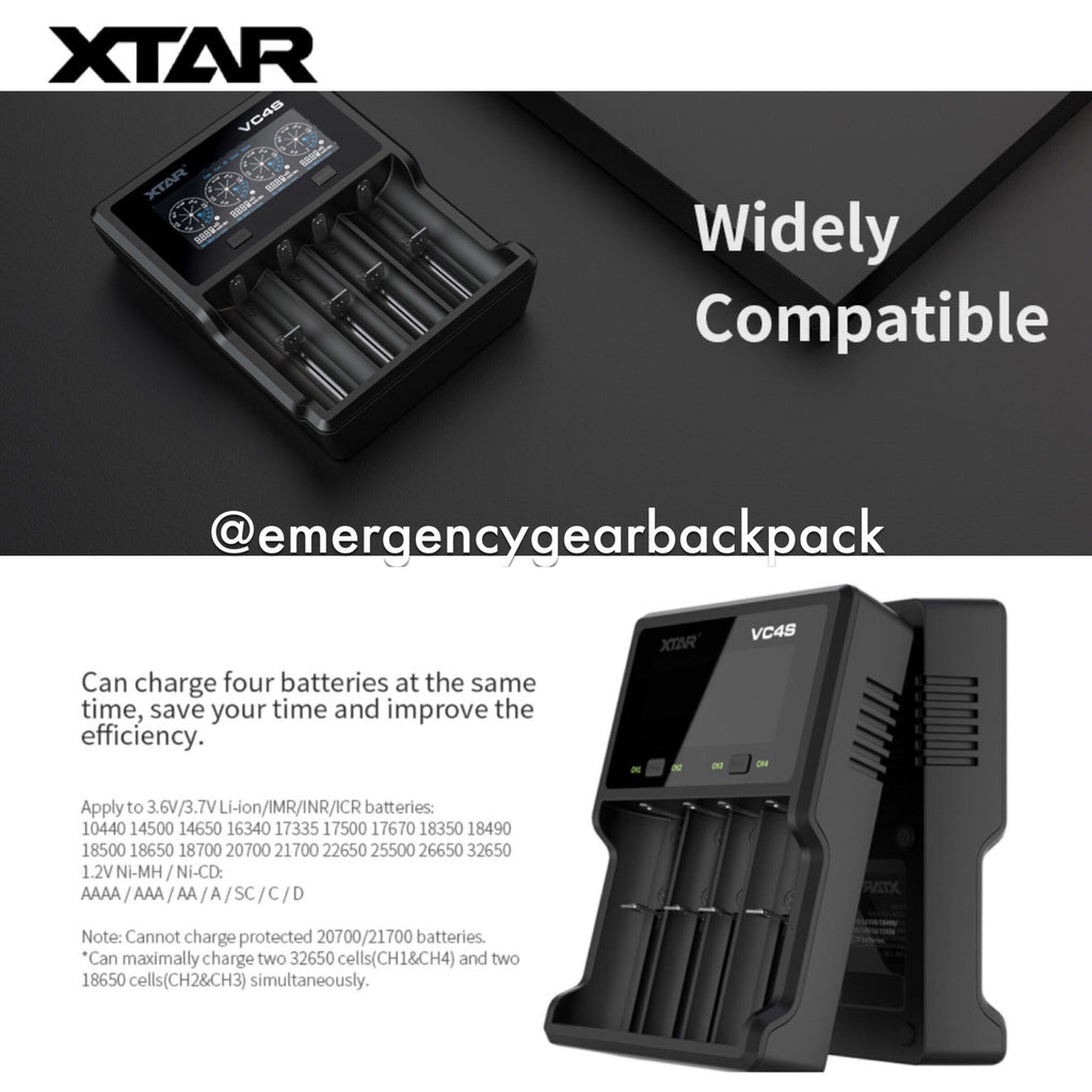 XTAR VC4S - Intelligent Battery Charger
