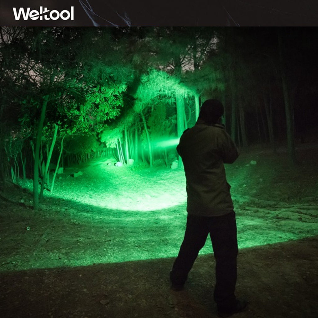 "Weltool T9 ""Ever-Victorious"" Green LED Hunting Flashlight"