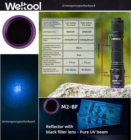 Weltool M2-BF UV 365nm (Focused pure beam)