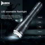 WUBEN L60 Tactical Zoomable Flashlight