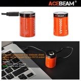 ACEBEAM ARC26350HC-200A 2000mAh 3.7V High-drain Micro USB Rechargeable Li-ion Battery