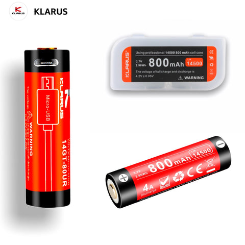 Klarus 14GT-80UR 14500 li-ion USB Rechargeable Battery