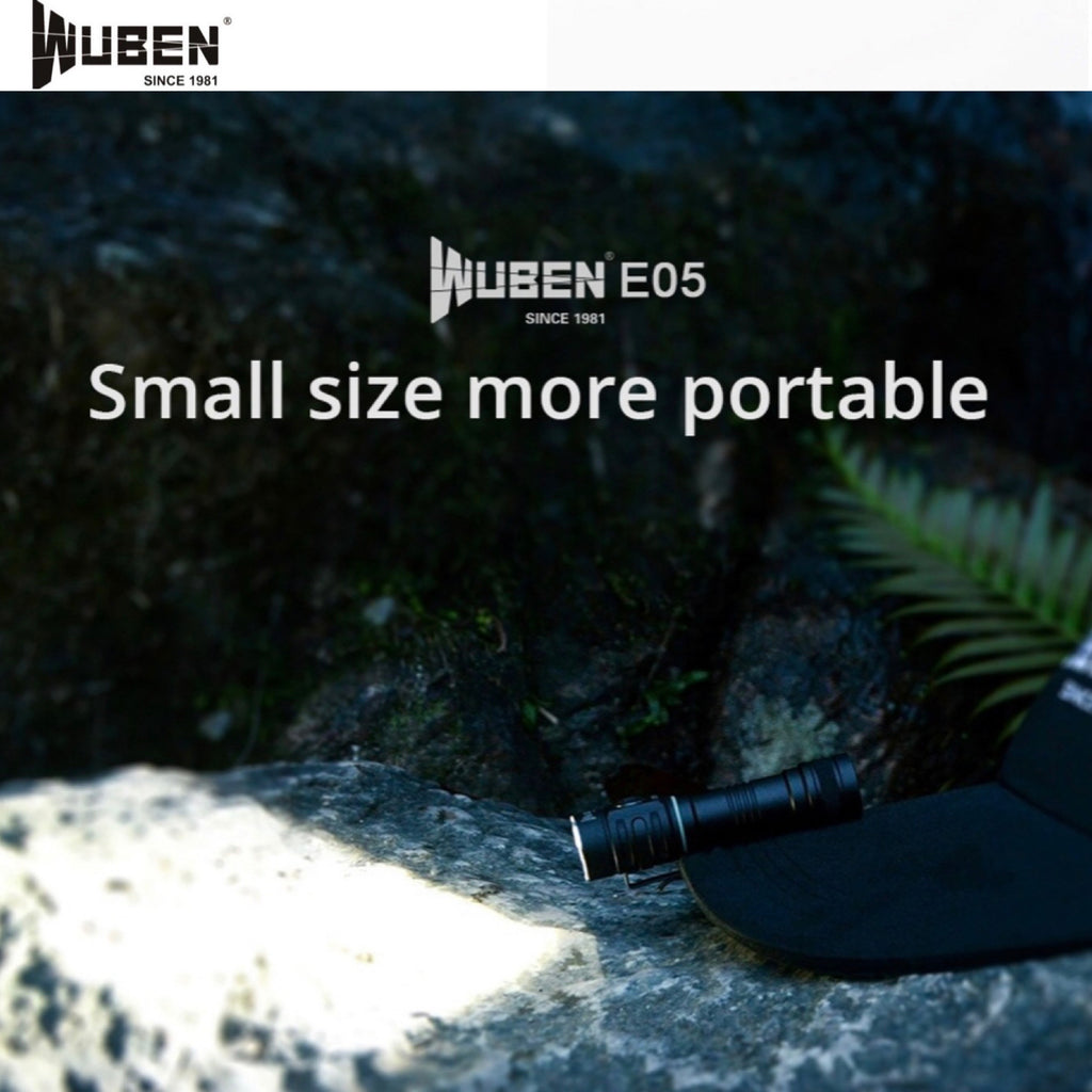 WUBEN E05 EDC Flashlight 900LMS 4200CD 130M